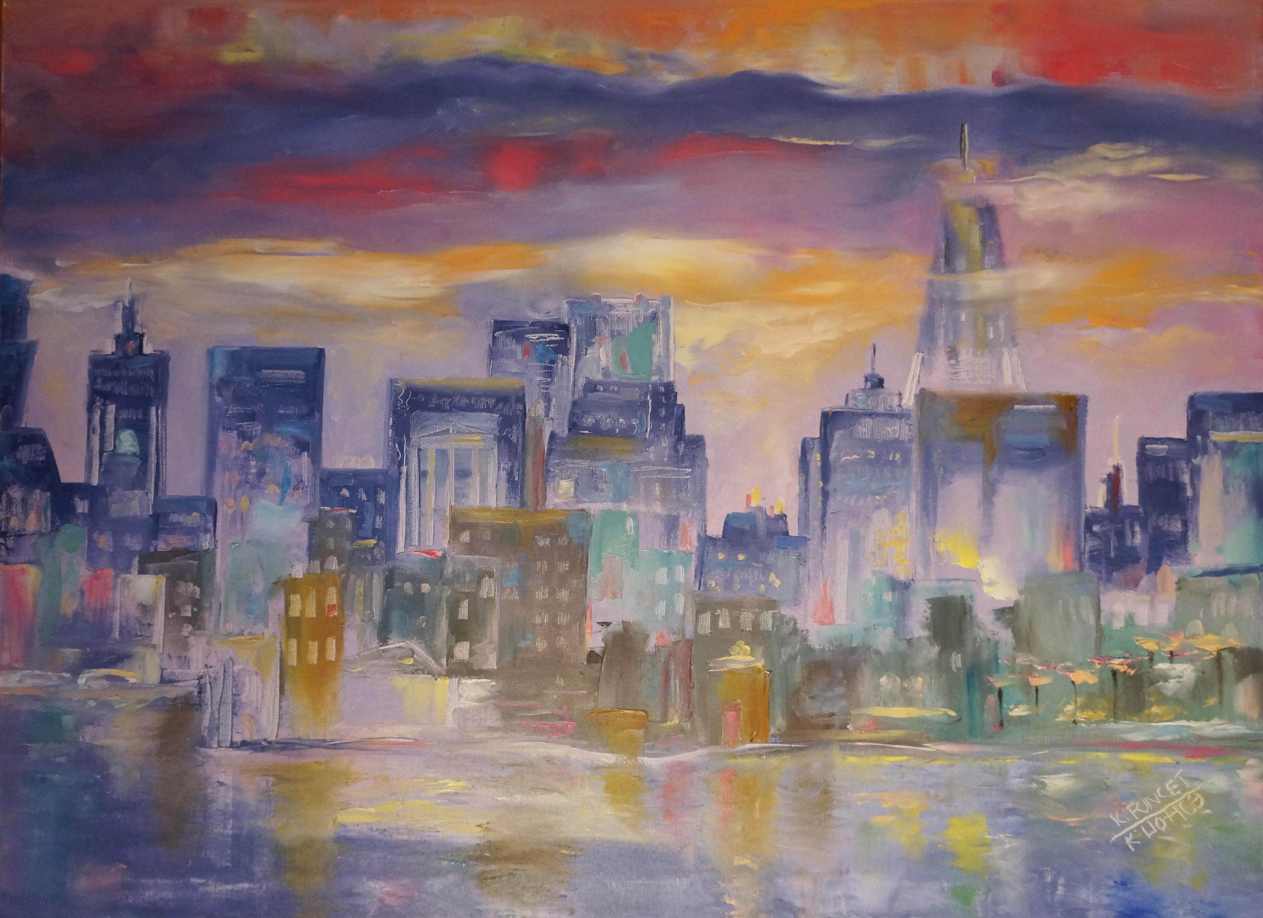 Manhattan view in a rainy day.