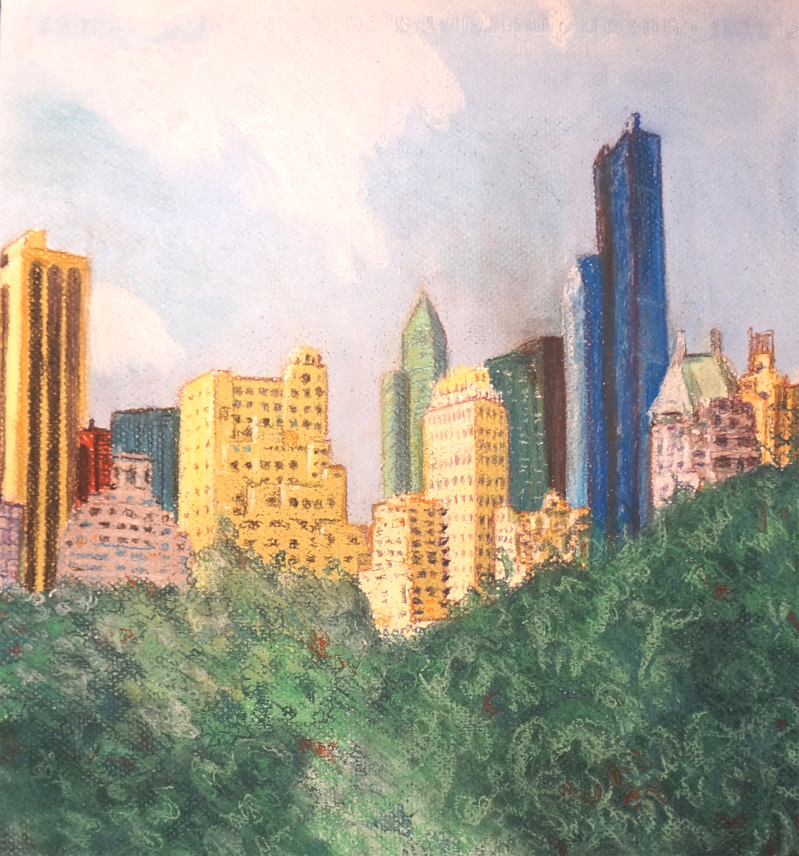 At the doors of Central Park, pastel