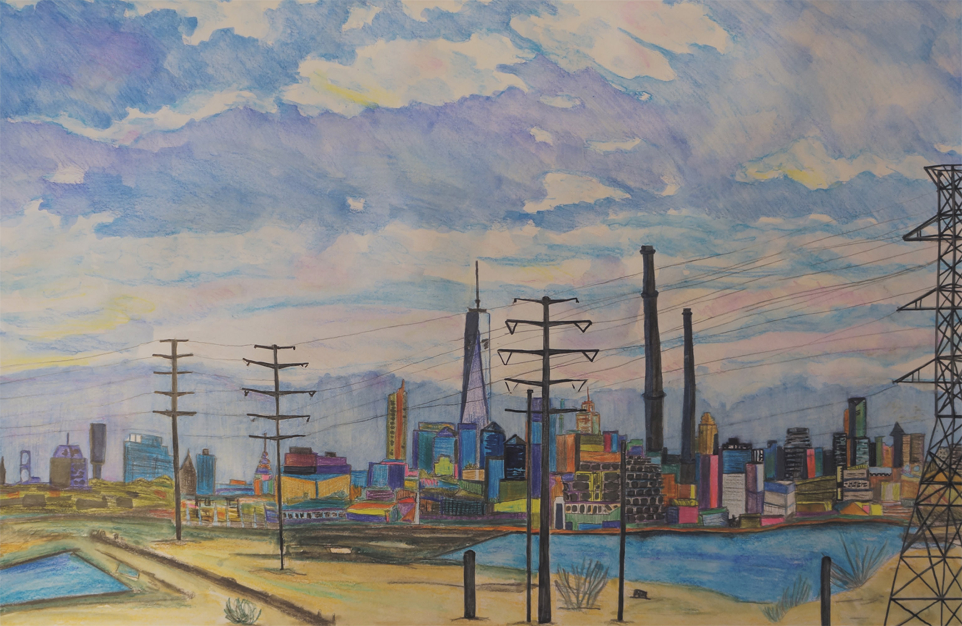 Industrial view on Manhattan from Secaucus